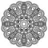 Орнамент круг кружева, круглых декоративных геометрических | Векторный клипарт