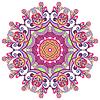 Круглый орнамент с декоративными кружевами | Векторный клипарт