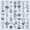 49 Handzeichnung icon set | Stock Vektrografik