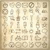 Satz von 49 Handdeichsel Web Icon Design-Elemente | Stock Vektrografik