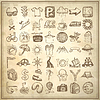 ID 3658467 | 49 hand drawing doodle icon set, travel theme | Klipart wektorowy | KLIPARTO