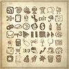 49 Handzeichnung doodle icon set | Stock Vektrografik