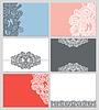 Sammlung moderner ornamentalen Visitenkarte | Stock Vektrografik