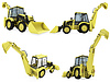 Collage of construction vehicle | Stock Illustration