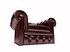 Skórzany fotel królewski | Stock Illustration