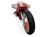 Будущее велосипед красного вид | Иллюстрация