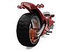 Widok czerwony rower przyszłość | Stock Illustration