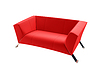 Isolated red sofa on a white background | Stock Illustration