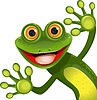 fröhlicher grüner Frosch