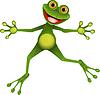 glücklich grünen Frosch
