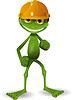 Frog in Helm