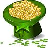 grünen Hut mit Geld