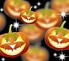 Halloween-Kürbisse, Jack Lantern on night