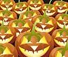 Scary Jack O Lantern Halloween Kürbis mit Kerze