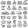 ID 3411699 | Set von Kontur-Icons | Stock Vektorgrafik | CLIPARTO