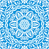 blaues Wintermuster