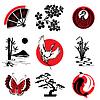 Японские элементы дизайна | Векторный клипарт