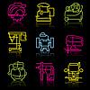 Linie icons Elektrowerkzeuge
