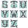 Vintage Alphabet. Teil 3