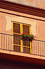 Small balcony on facade of building | Stock Foto