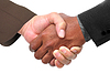 Businessmen shaking hand | Stock Foto