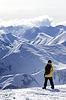 Snowboarder oben auf Berg | Stock Foto