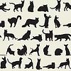 nahtloser Hintergrund mit Katzen