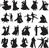 Sylwetki par tańczy walca | Stock Vector Graphics