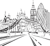 ID 3440091 | Sketch silhouette of London | Klipart wektorowy | KLIPARTO