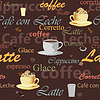 nahtloser Kaffee-Hintergrund