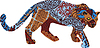Jaguar w strukturze etnicznej Indian Ameryki | Stock Vector Graphics
