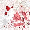 Romantyczny tła z jasnymi kwiatami | Stock Vector Graphics
