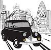 Skizzieren Londoner Taxi