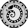 Смешная змея китайского гороскопа | Векторный клипарт