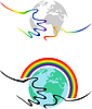 Homosexuell Symbolik Händen halten die Erde