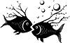 Странная рыба | Векторный клипарт