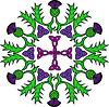 Kwiatowy rozeta z ostów i węzłów celtyckich | Stock Vector Graphics