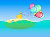 yellow submarine und festlichen Ballons