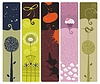 Różne Bookmarks | Stock Vector Graphics