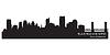 Sacramento, California skyline. Szczegółowa sylwetka | Stock Vector Graphics
