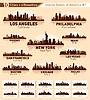 Silhouetten von US-Städten