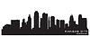 Kansas City, Missouri Skyline. Detaillierte silhouette