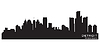 Detroit, Michigan skyline. Detailed silhouette