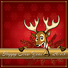 ID 3492041 | Christmas Deer. Grußkarte | Stock Vektorgrafik | CLIPARTO