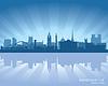 Newcastle, England - Skyline   Stock Vektrografik