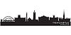 Newcastle, England Skyline. Detaillierte silhouette