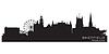 ID 3493716 | Sheffield, Anglia skyline. Szczegółowa sylwetka | Klipart wektorowy | KLIPARTO