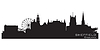 ID 3493716 | Sheffield, England Skyline. Detaillierte silhouette | Stock Vektorgrafik | CLIPARTO