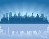 Leeds, England Skyline | Stock Vektrografik