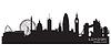 London, England - Skyline. Detaillierte silhouette